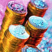 British Pound Coins Art Print