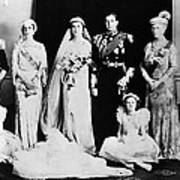 British Royal Family. Seated, From Left Art Print