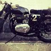 Bsa Motorbike Art Print