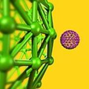 Buckyball Molecules, Artwork Art Print