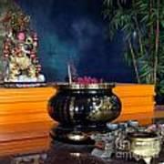 Buddhist Altar Art Print by Yali Shi