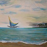 Butterfly Sails Art Print