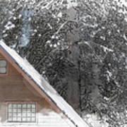 Cabin In The Winter Art Print