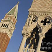 Campanile. Plazza San Marco. Venice Art Print