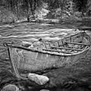 Canoe On The Thornapple River Art Print