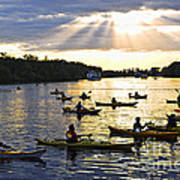Canoeing Art Print