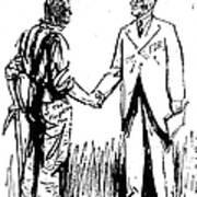 Cartoon: Fdr & Workingmen Art Print