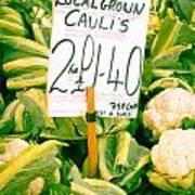 Cauliflower Print by Tom Gowanlock