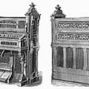 Chapel Organ, 19th Century Art Print