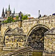 Charles Bridge And Prague Castle Art Print