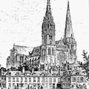 Chartres Cathedral Art Print
