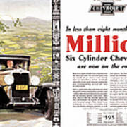 Chevrolet Ad, 1929 Art Print