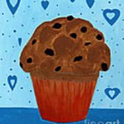 Chocolate Chip Cupcake Art Print