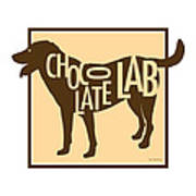 Chocolate Lab Art Print by Geoff Strehlow