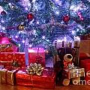 Christmas Tree And Presents Art Print