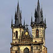 Church Of Our Lady Before Tyn - Prague Cz Art Print by Christine Till