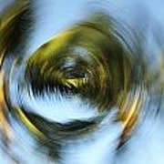 Circular Palm Blur Art Print