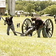 Civil War Reenactment Art Print