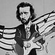 Clapton In Black And White Art Print