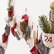 Close Up Of Advent Calendar On Wall Art Print