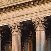 Closeup Of The U.s. Supreme Court Art Print