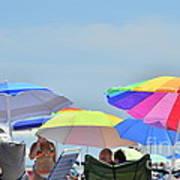 Coast Guard Beach Umbrellas Art Print