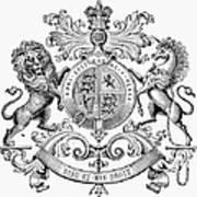 Coat Of Arms: Great Britain Art Print