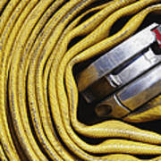 Coiled Fire Hose Art Print by Skip Nall