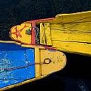 Colorful Boats, Srinagar, Dal Lake Art Print