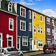 Colorful Houses In St. John's Newfoundland Art Print
