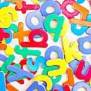 Colorful Letters Art Print
