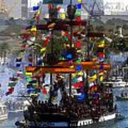 Colors Of Gasparilla Art Print by David Lee Thompson