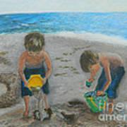 Cool Water Warm Sand Art Print