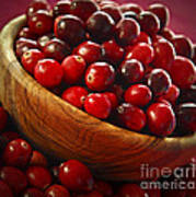 Cranberries In A Bowl Art Print by Elena Elisseeva