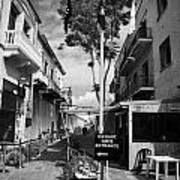 crossing point in ledra street in the UN buffer zone in the green line dividing cyprus Art Print