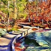 Cunningham Falls Walkway Art Print
