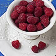 Cup Full Of Raspberries Art Print