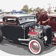 Custom Ford Coupe Art Print