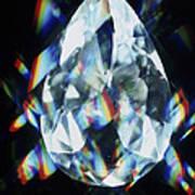 Cut And Polished Diamond Art Print