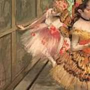 Dancers In The Wings Art Print by Edgar Degas