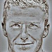 David Beckham In 2009 Art Print