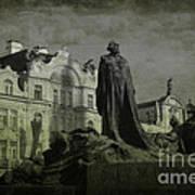 Death In Prague Print by Lee Dos Santos