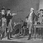Death Warrant Of Major John Andre, 1780 Art Print by Photo Researchers