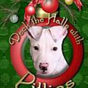 Deck The Halls With Pitbulls Art Print by Renae Laughner