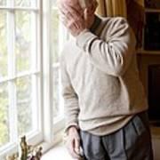 Depressed Senior Man Art Print