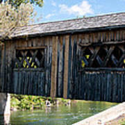 deShutes River Bridge Art Print