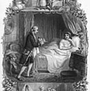 Dining, 19th Century Art Print