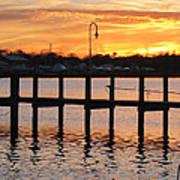 Dock Sunset Art Print