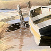 Docs Old Rowboat Art Print
