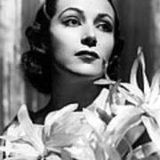 Dolores Del Rio, Portrait Ca. 1934 Art Print